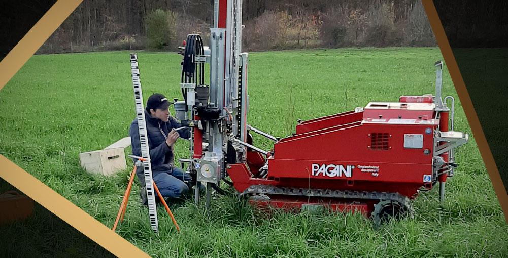Réalisation d'essais de sols par Ingeo